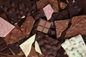 Chunks of Chocolate bars.