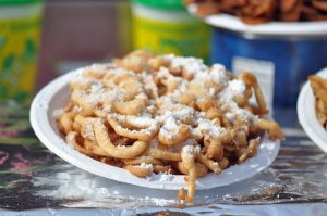 A large funnel cake.