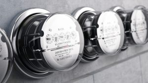 Outdoor apartment electricity meters
