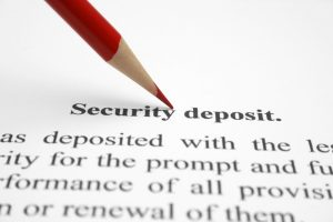 Lease with security deposit clause