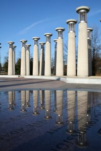 Bell towers at Bicentennial Capitol Mall State Park
