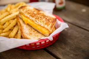 Basket of fries and grilled cheese