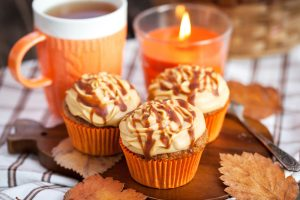 Fall Candle and Baked Goods.