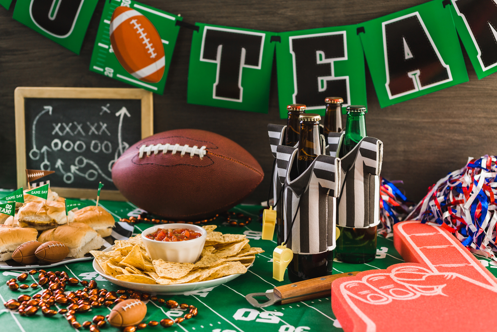 game day party table