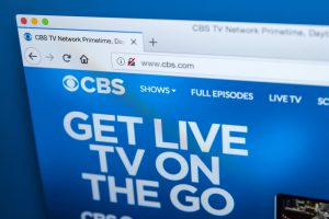 homepage for CBS