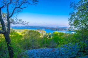 Pinnacle Mountain State Park in Little Rock, Arkansas in the Spring