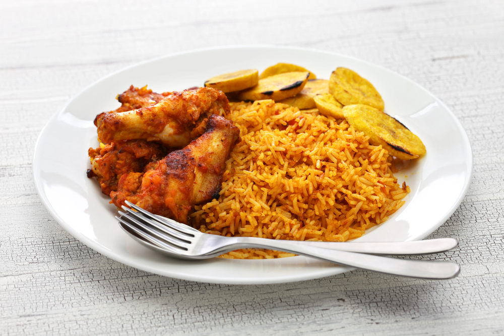 West African chicken jollof rice.