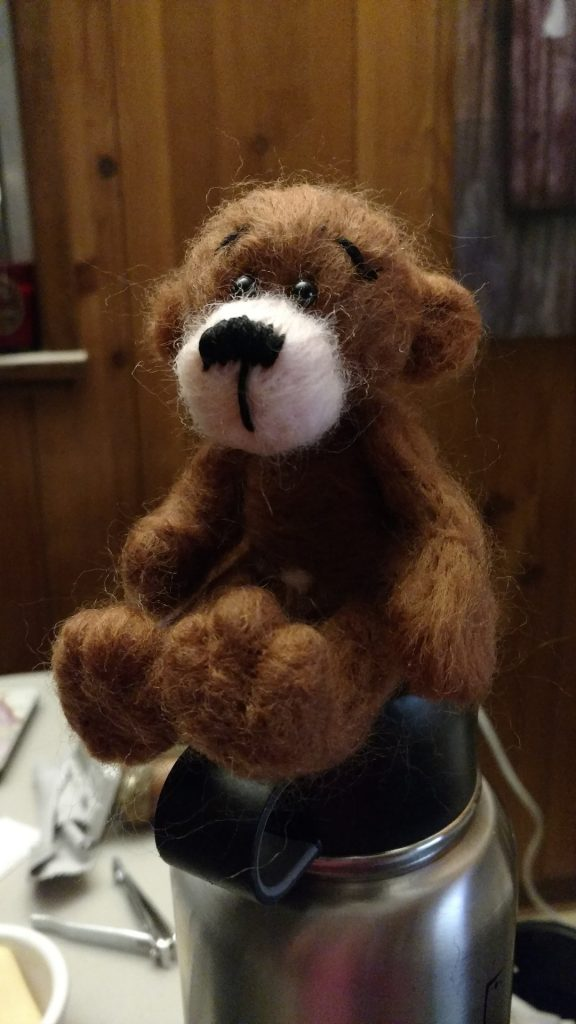 felted bear toy
