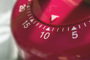 Red ten minute timer.